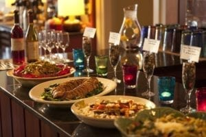 Brewery Gulch Inn's wine hour buffet
