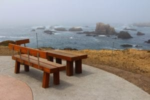The view from Fort Bragg's newly-opened Coastal Trail