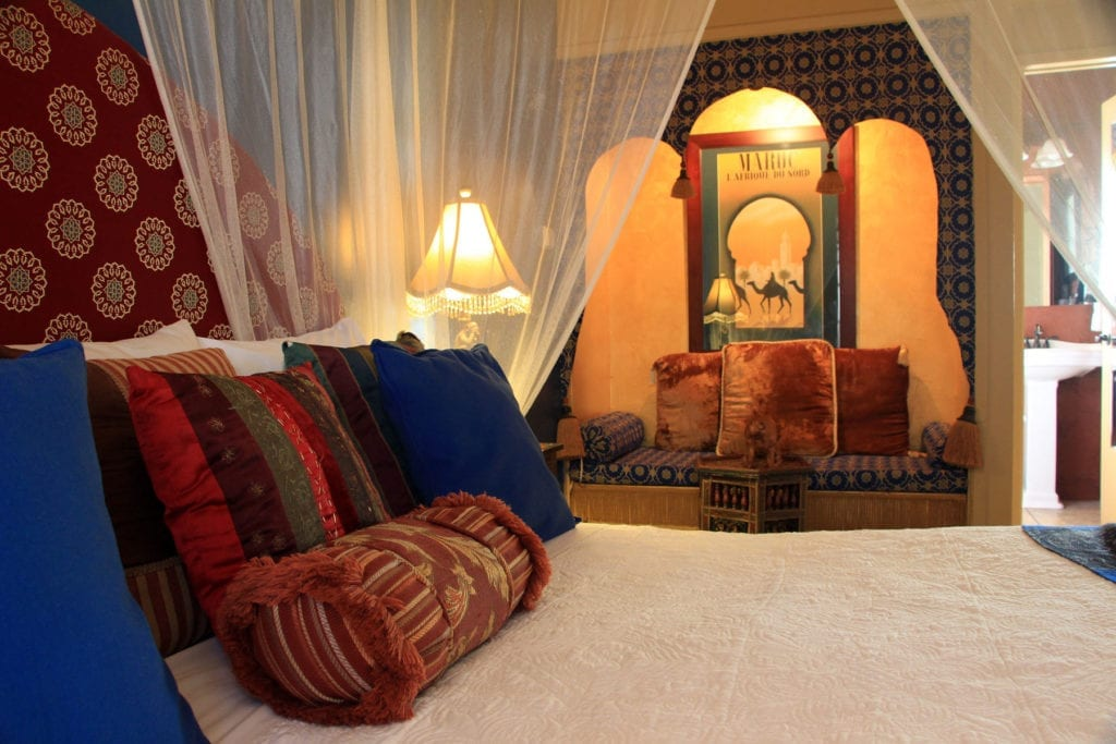 Guest room at El Morocco Inn & Spa