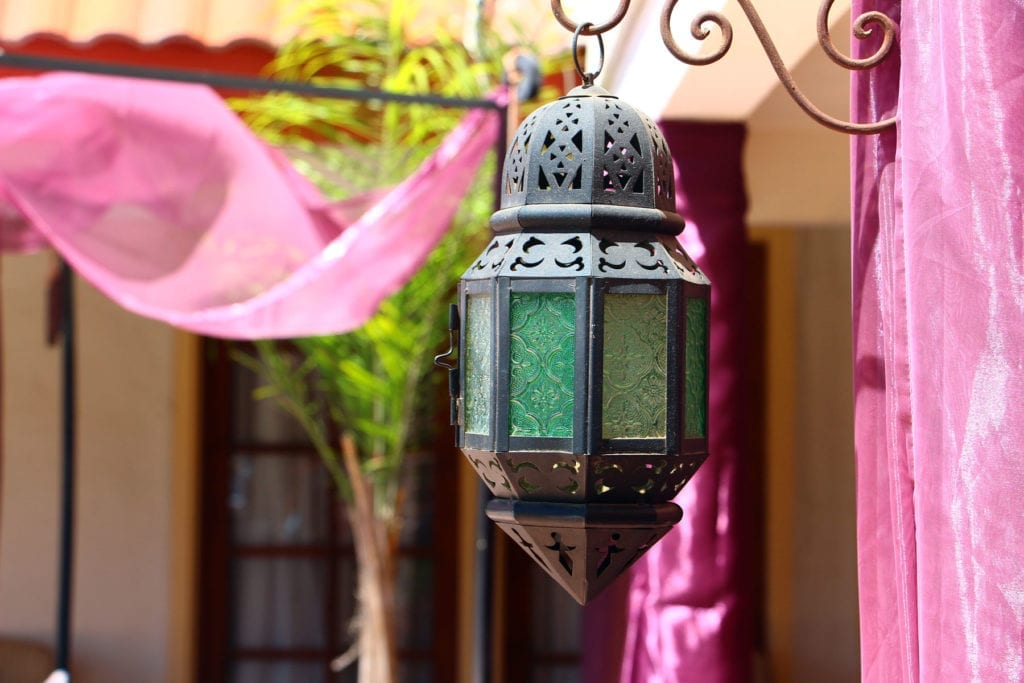 Lantern detail at El Morocco Inn & Spa