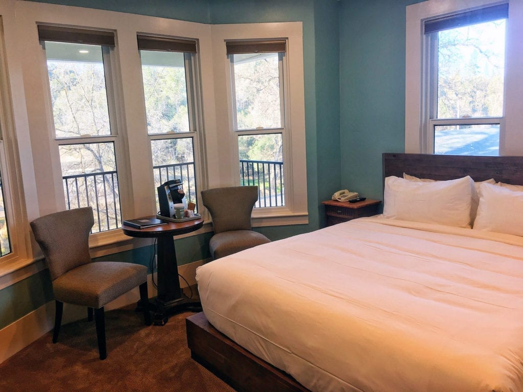 Newly renovated room at the Groveland Hotel