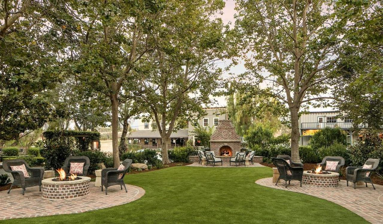 Outdoor firepits at Santa Ynez Inn
