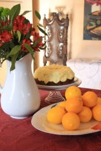 Meyer lemon cake at Bear Creek Inn