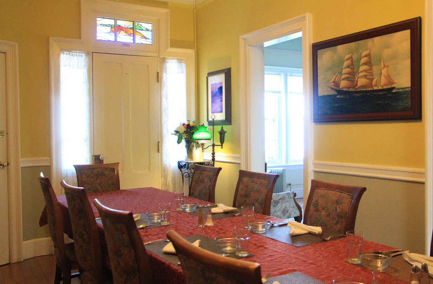 Dining room at East Brother Light Station