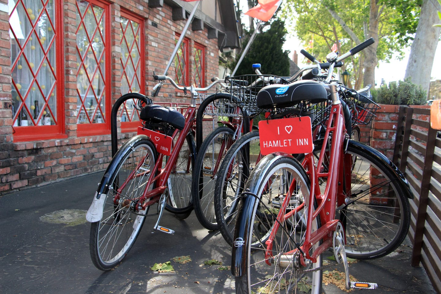 Complimentary bicycles to borrow at the Hamlet Inn