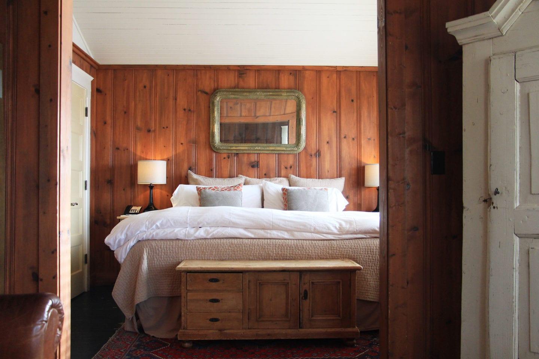 Bedroom of Al's Cottage at Nick's Cove & Cottages