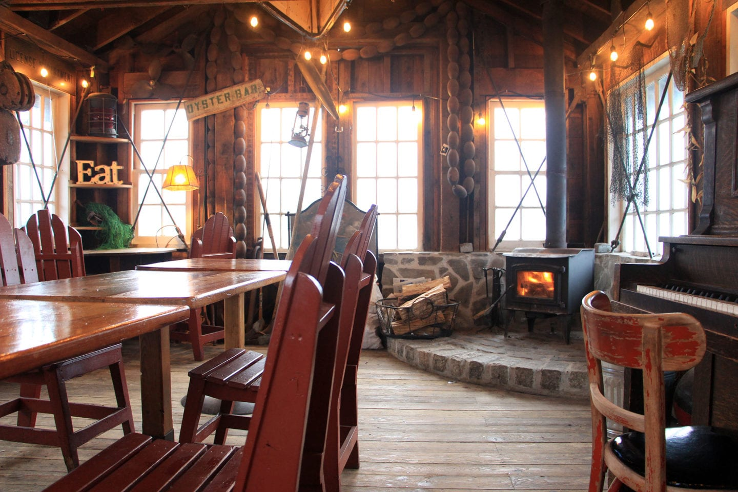Interior of the boat shack at Nick's Cove